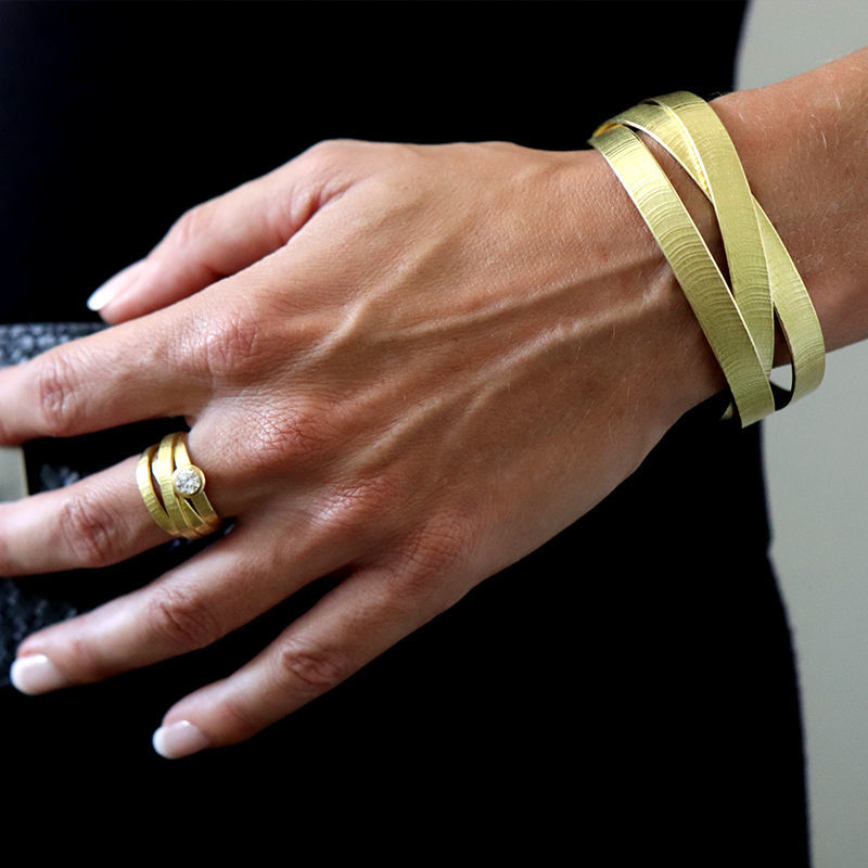 Picture of Gold Wide Braided Cuff